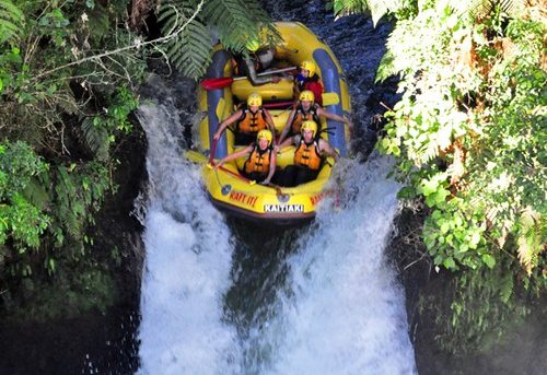 Rafting the highest waterfall in the world!