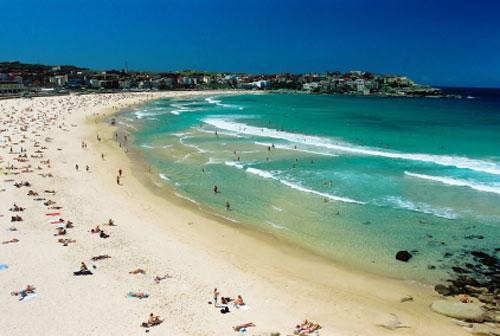 Framme i Syndey och Bondi Beach