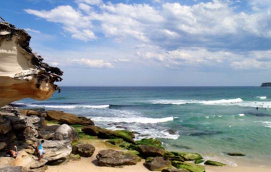 Strandhäng på Bondi Beach med Natalie