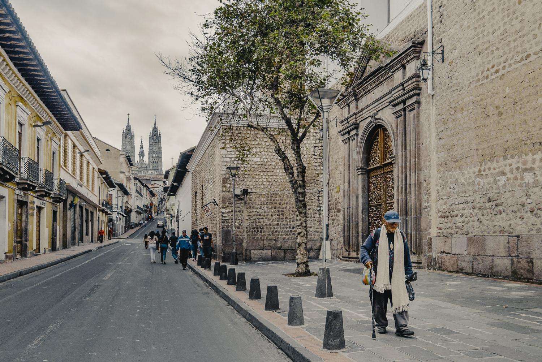Kyliga höjder i huvudstaden Quito