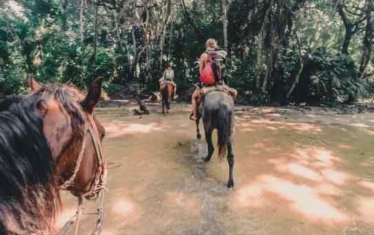 Karibisk hästridning i Tayrona National Parks djungel