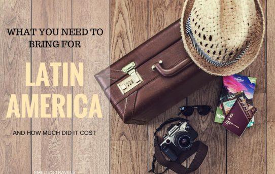 PACKLISTA för Syd-, och Centralamerika – vad får du inte glömma?