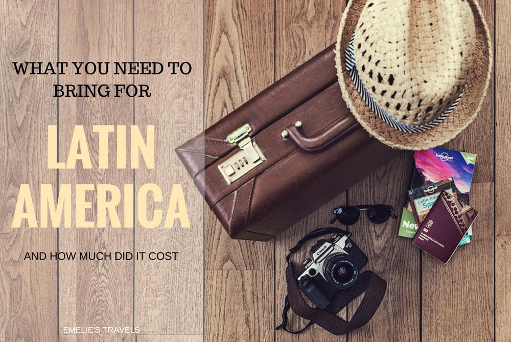 PACKLISTA för Syd-, och Centralamerika - vad får du inte glömma?