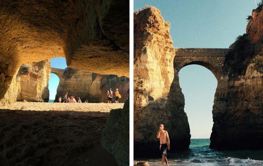 Vackra sandstensklippor och grottor i Lagos