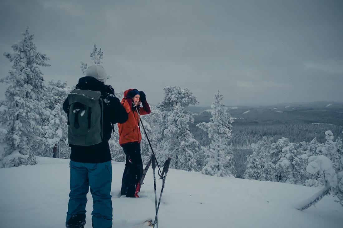 Topptur Tavelsjöberget - fin skogsskidåkning