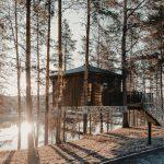 Bo som en fågel på trädhotell i Granö Beckasins Fågelnästen